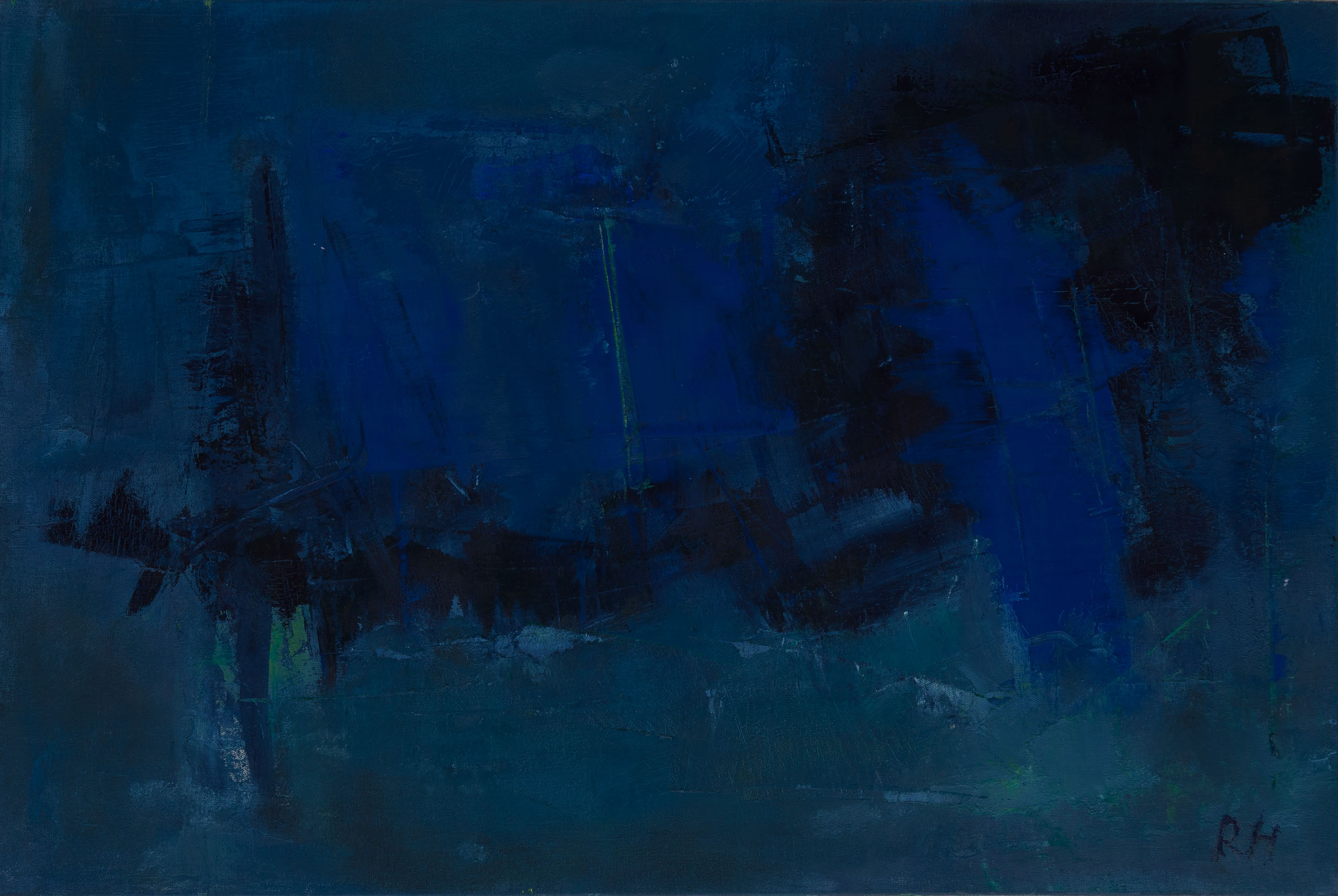 Kind of blue #1, 2015, oil on canvas, 16 x 24 inches
