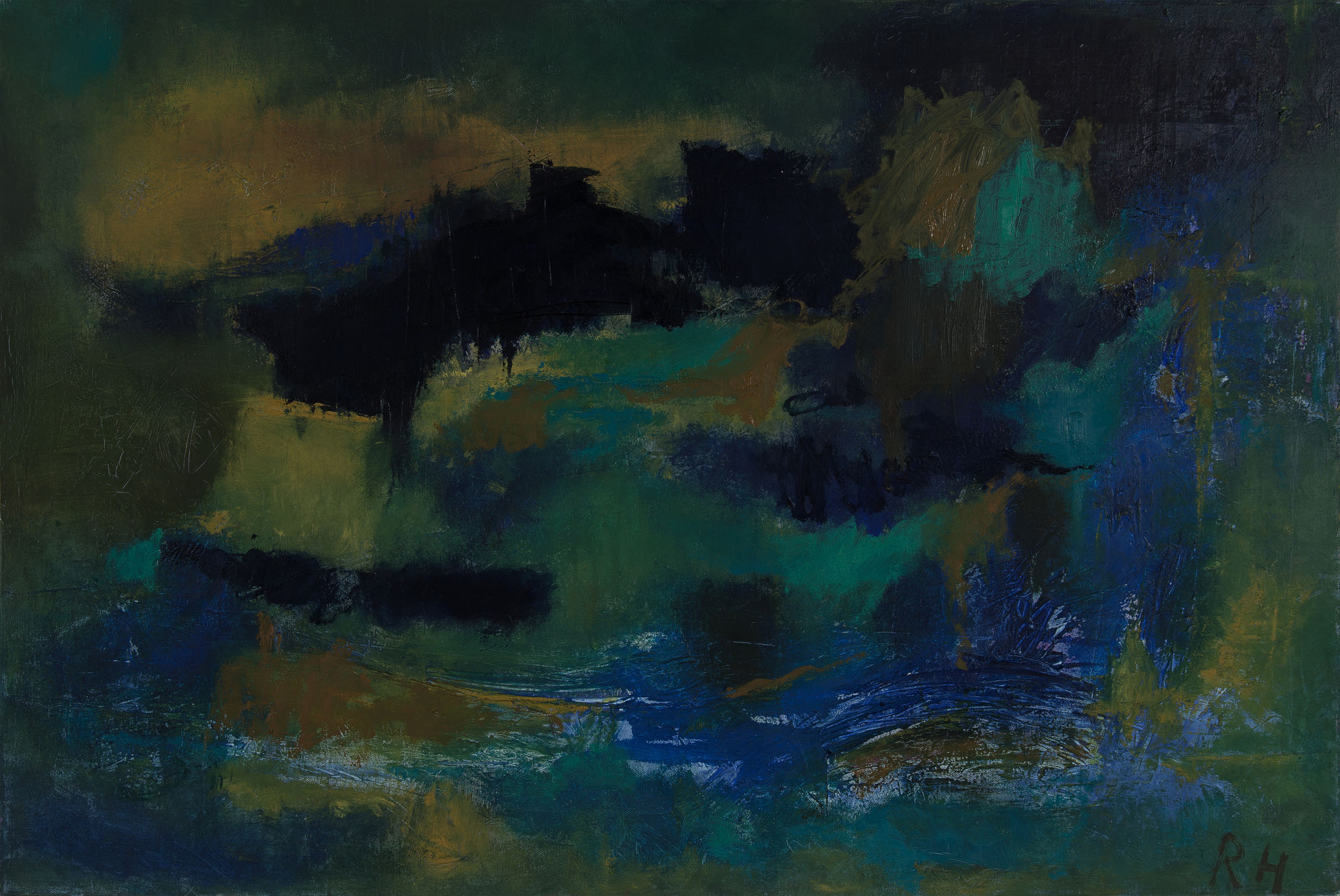 Kind of blue #2, 2015, oil on canvas, 24 x 36 inches
