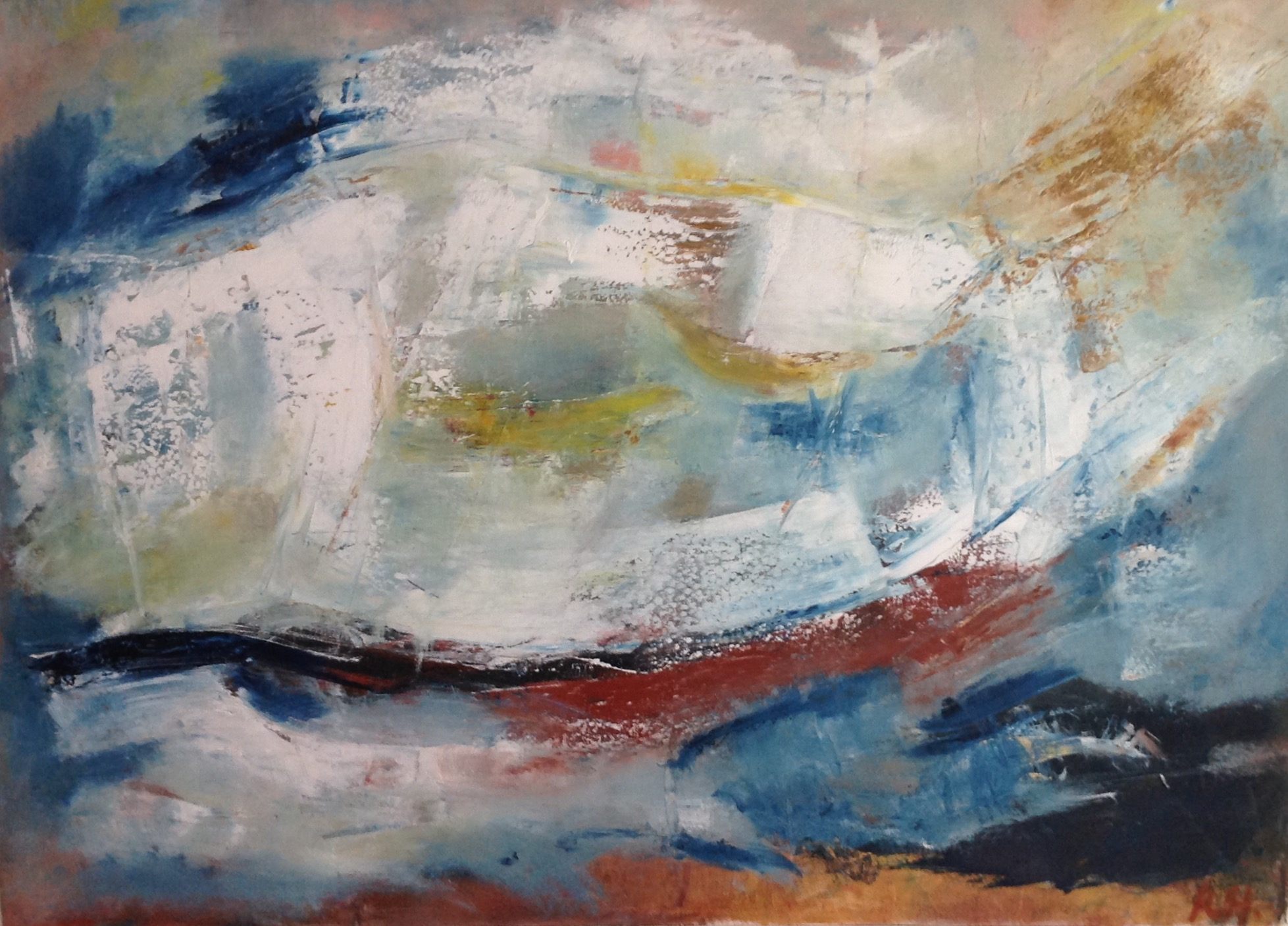 Untitled, oil on canvas, 30 x 40 inches, 76 x 100 cm